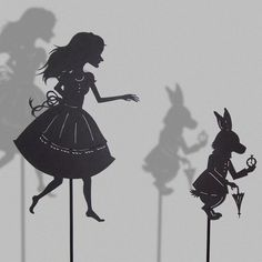 Alice and the white rabbit #puppets