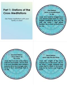 The Stations of the Cross, Part 1 - includes Stations of the Cross meditation cards download #catholic