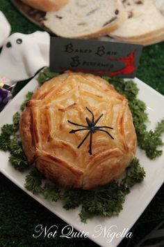 Brie Spiderweb for a Halloween party