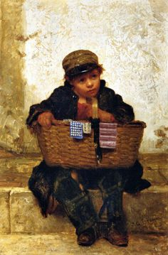 The Button Seller -- John George Brown (1831 – 1913, English-born American)