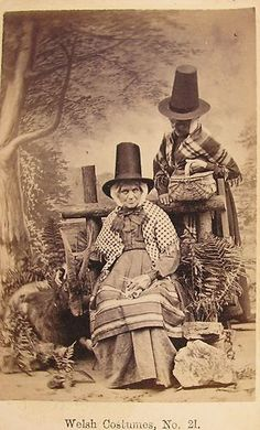 CDV Welsh Costumes NO21 C1890 | eBay Old Pictures, Old Photos, Vintage Photos, Folk Costume, Costumes, Welsh Lady, Celtic Christianity, Celtic Nations, Wales Uk