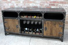 Industrial Wine Cabinet / Bar / Liquor cabinet / by ModIndustrial
