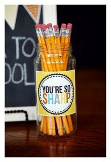 Back to school gift. I'd sharpen the pencils though!