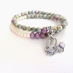 silvercharm beaded bracelet