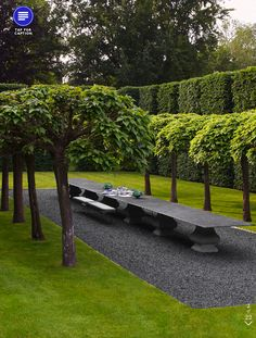 The London home of Anouska Hempel and husband Sir Mark Weinberg is nothing short of spectacular. Not only is the interior breathtaking, the. Modern Landscape Design, Modern Landscaping, Landscape Architecture, Garden Landscaping, Formal Gardens, Outdoor Gardens, Garden Seating, Outdoor Seating, Contemporary Garden