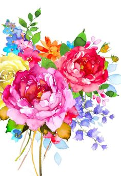 Our key principles are Fairness, Ability, Creativity, Trust and that's a… Watercolor Cards, Watercolour Painting, Watercolor Flowers, Painting & Drawing, Watercolors, Painting Inspiration, Flower Art, Floral Flowers, Art Drawings