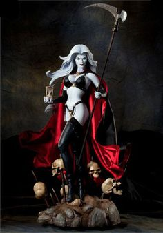 Lady Death Premium Format Figure. Oh my god I used to love her so much.
