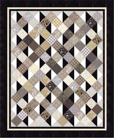 This Easy PDF Quilt Pattern, Simply Serene Pleasant Valley is just one of the custom, handmade pieces you'll find in our quilts shops. New Quilt Patterns - A great scrappy and easy quilt. The only block you have to put together is the half-square-triangle Lap Quilts, Scrappy Quilts, Mens Quilts, Flannel Quilts, Plaid Quilt, Amish Quilts, Man Cave Quilts, Quilting Projects, Quilting Designs