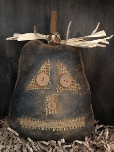 Excited to share this item from my shop: Primitive Jack-O-Lantern Large Bowl Filler / Tuck Primitive Fall Crafts, Primitive Halloween Decor, Primitive Pumpkin, Primitive Patterns, Primitive Decor, Primitive Bedroom, Primitive Snowmen, Primitive Kitchen, Primitive Autumn