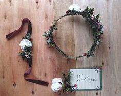 Flower crown Vanillage handmade crafted with love wood land organic calligraphy after wedding photoshooting Wedding Photoshoot, Flower Crown, Floral Wreath, Calligraphy, Organic, Wreaths, Wood, Flowers, Handmade