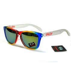 Oakley New Frogskin White Blue Red Sunglasses Discount Sunglasses, Red Sunglasses, Wholesale Sunglasses, Sunglasses Outlet, Oakley Sunglasses, Flak Jacket, Oakley Frogskins, Frame Shop, Blue