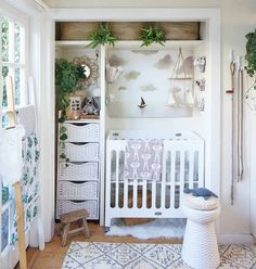 a small corner nursery in the master bedroom is all that s needed