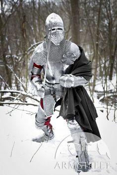 Costume d'acciaio inciso il cavaliere Paladino
