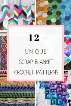 Get 12 of the best crochet scrap blanket patterns and ideas for free! Scrap afghans and blankets are made with left over yarn that you aren't sure what to make with. Make one of these beautiful and fun blankets to help cut down your yarn stash! Scrap Yarn Crochet, Crochet Crafts, Afghan Crochet Patterns, Knitting Patterns, Crochet Afghans, Pillow Patterns, Baby Afghans, Yarn Projects, Crochet Projects