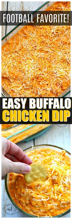 Easy Buffalo Chicken Dip Recipe    Make buffalo dip under 30 with this awesome recipe tip! Best Dip Recipe EVER!