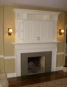 Fireplace mantle and TV cabinet