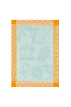 "Elegant garden motifs adorn this colorful, made-to-last towel. Machine wash & dry.    Measures 24"" x 31""   French Kitchen Towel by Le Jacquard Francais. Home & Gifts - Home Decor - Towels California"