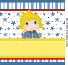 The Little Prince free printable card or candy bar label.
