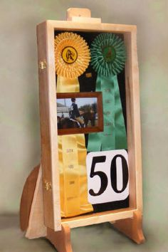 Dog Hunt Test Ribbon Display (display for pageant ribbons.)