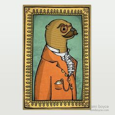 Sir Otterton, Classy Critters Series Old Portraits, Take A Seat, Otters, Enough Is Enough, Doodles, My Arts, Classy, Antiques, Drawings