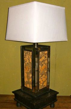 Whats 26″ Inches Long, Made Of Cork And From The 70′s? If you guessed a vintage 70′s cork lamp, you are correct! Another treasure discovered on Etsy.
