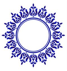 Floral decorative frame vector image on VectorStock Pink Damask Wallpaper, Floral Pattern Vector, Circle Art, Blue Pottery, Vector Flowers, Arte Floral, Stencil Painting, Custom Stamps, Flower Patterns