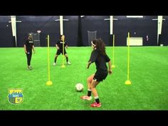 NXTsoccer Training First Touch 4 post drill - YouTube