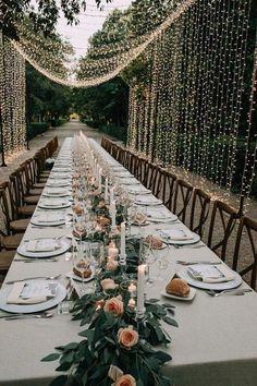 amazing greenery wedding garden table ideas at home Wedding Ceremony Ideas, Wedding Guest Book, Wedding Events, Wedding Arches, Wedding Tables, Wedding Seating, Wedding Programs, Reception Ideas, Elegant Wedding