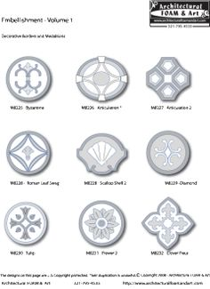 Medallions custom foam decorative shapes outdoor living pinterest products shape and search for Architectural medallions exterior