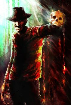 horror art Freddy Krueger, Robert Englund, Scary Movies, Horror Movies, Horror Villains, Scary Characters, Slasher Movies, Maze Drawing, Horror Monsters