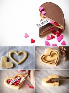 Be mine cookies - so cute!   you can even make it for your loved once for Christmas :)
