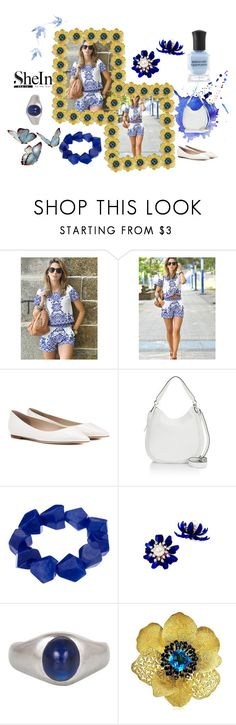 """SheIn White & Blue"" by flowerbud77 ❤ liked on Polyvore featuring Jimmy Choo, Rebecca Minkoff, John Lewis and Alex Soldier"