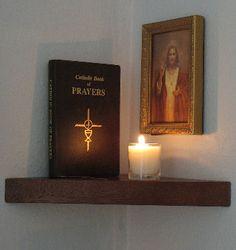 small home altar catholic modern shelf - Google Search