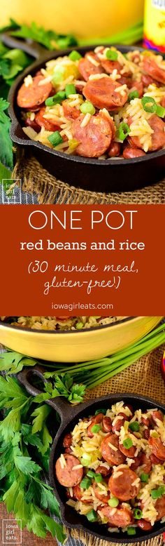 One Pot Red Beans and Rice is an easy and affordable one pot dish that the entire family will love. Get a taste of the south in under 30 minutes!    iowagirleats.com