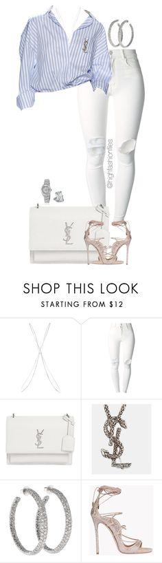 """""""Untitled #2732"""" by highfashionfiles ❤ liked on Polyvore featuring Topshop, (+) PEOPLE, Yves Saint Laurent, Lorraine Schwartz, Dsquared2, Rolex and Chopard"""