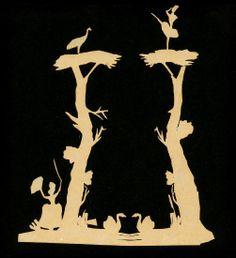 papercuttings by Hans Christian Andersen
