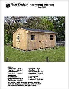 12' X 16' Saltbox Style Storage Shed Project Plans -Design #71216 Plans Design http://www.amazon.com/dp/B002Z3H0O4/ref=cm_sw_r_pi_dp_DRcvvb0B2CEM7