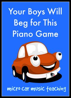 Your boys will go crazy for theory with this piano teaching game | www.teachpianotoday.com