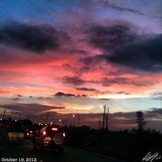 終了〜  off to home! #イマソラ#夕日#夕焼け#空#雲#フィリピン#sunset#sky#clouds#sun#philippines