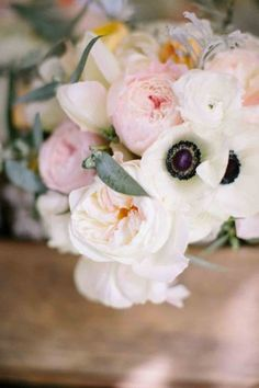 peony and anemone bridal bouquet