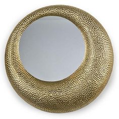 Hammered Mirror - Matte Gold