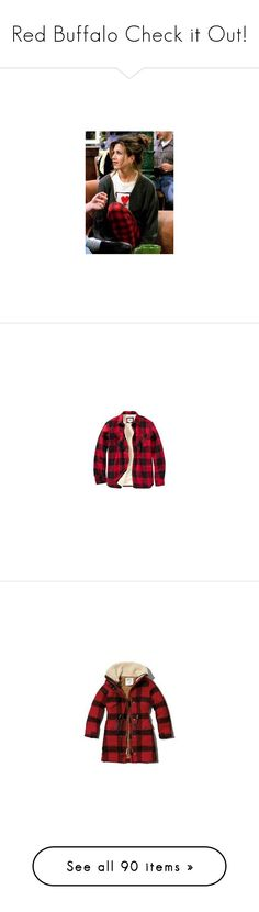"""""""Red Buffalo Check it Out!"""" by fashionista88 ❤ liked on Polyvore featuring Chooka, Woolrich, men's fashion, men's clothing, men's outerwear, men's jackets, tops, mens tall jackets, tall mens outerwear and old navy mens jackets"""