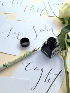 Set of 10 Wedding Table Numbers in Handwritten Modern Calligraphy by emmahcalligraphy on Etsy