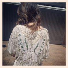 Shooting time - Vintage blouse full pailettes by Parosh