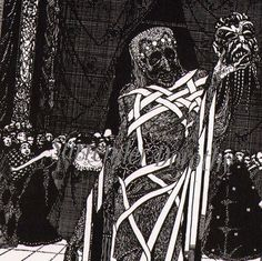 Edgar Allan Poe Masque of the Red Death By Harry Clarke 1933 Vintage Horror Illustration To Frame