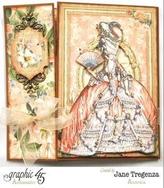"""Gilded Lily Card - Marie Antoinette by Jane <a class=""""pintag searchlink"""" data-query=""""%23graphic45"""" data-type=""""hashtag"""" href=""""/search/?q=%23graphic45&rs=hashtag"""" rel=""""nofollow"""" title=""""#graphic45 search Pinterest"""">#graphic45</a>"""