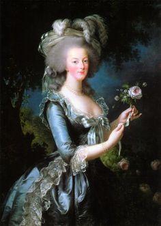Portrait of Marie Antoinette, 1783, by Louise Élisabeth Vigée Le Brun.