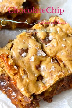 Chocolate Chip Caramel Bars from www.laughlovekiss.com