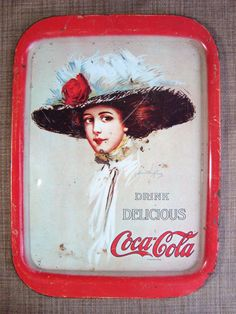Coca Cola collectible metal tray Hamilton by DrewsCollectibles, $9.99