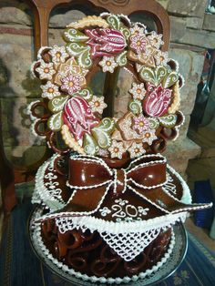 NK 3 D, Cukor, Floral Wreath, Sweets, Gingerbread Houses, Home Decor, Paper, Sprouts, Floral Crown